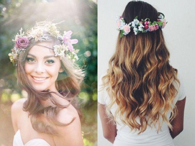 30 Фото-идей свадебных причесок с живыми цветами