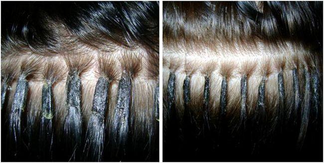 Места соединения волос