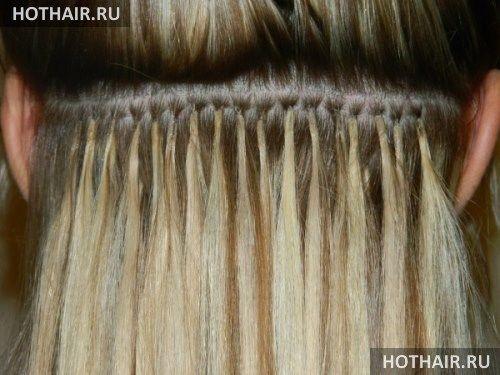 алмазное наращивание волос