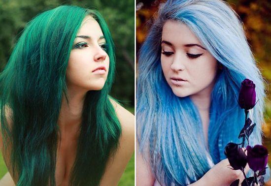 Цветные краски для волос — разбавим серую повседневность
