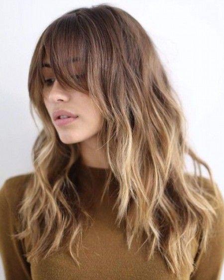 Длинные волосы с косой челкой фото истинных ценительниц креатива