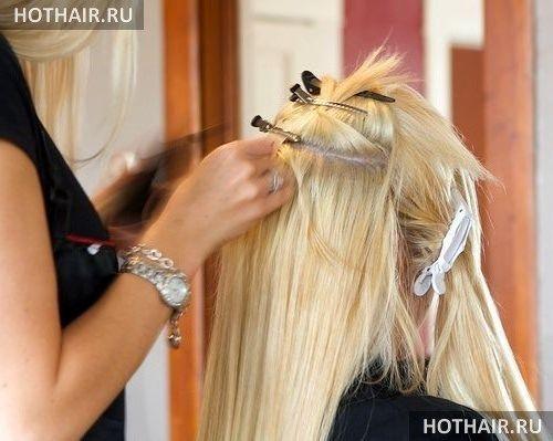 Французское наращивание волос
