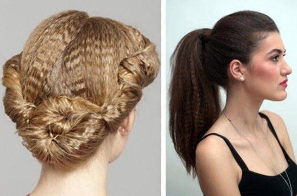 Варианты причесок из гофрированных волос