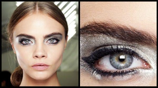 Идеальный цвет волос для серых глаз