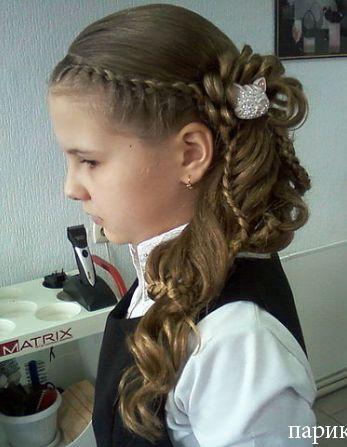 Как сделать детскую прическу цветок из волос.