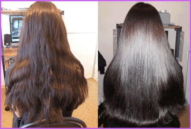 Как выглядят волосы до и после ламинирования?