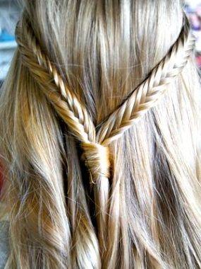 Греческая коса вокруг головы