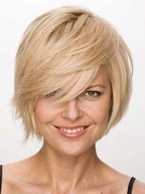 Короткие волосы с косым каре