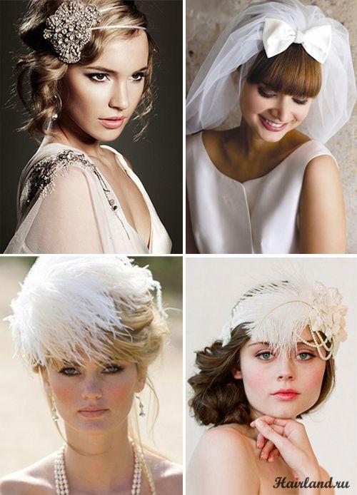 Свадебные прически на средние волосы в стиле ретро 20-х 30-х и 50-х