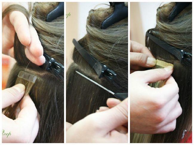 Коррекция искусственных волос