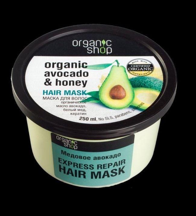 Маска для волос медовое авокадо organic shop avocado and hovey hair mask