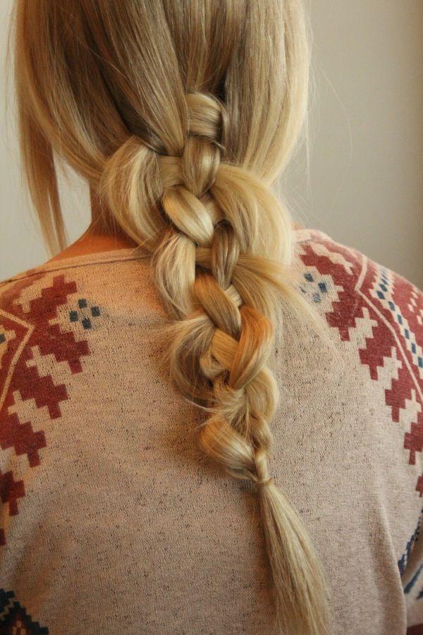 Мастер класс: коса из пяти прядей на средние и длинные волосы