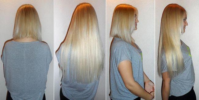 короткие редкие волосы - результат наращивания