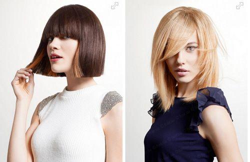 Модные стрижки 2015 на волосах средней длины