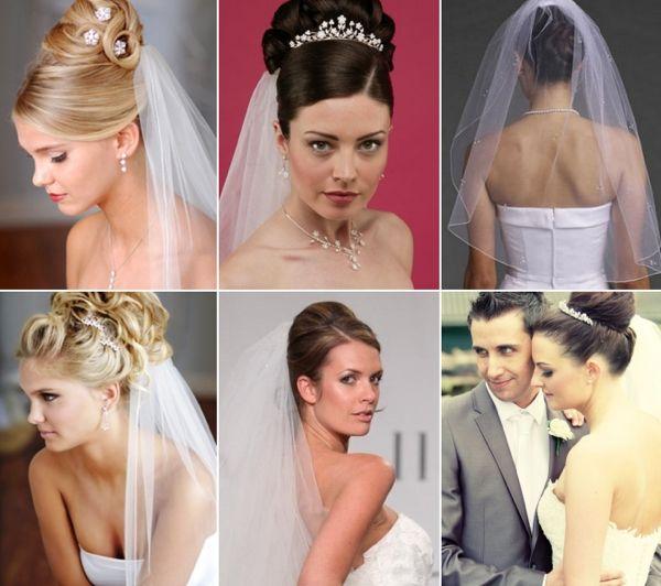 Модные свадебные причёски с фатой. Более 30 фото + видео