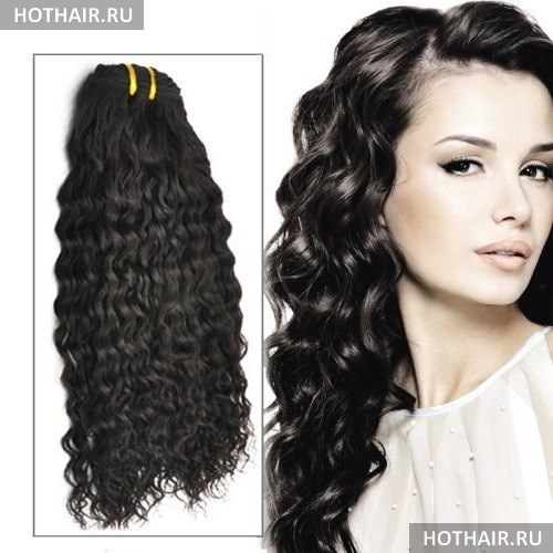 Наращивание прядей на вьющиеся волосы