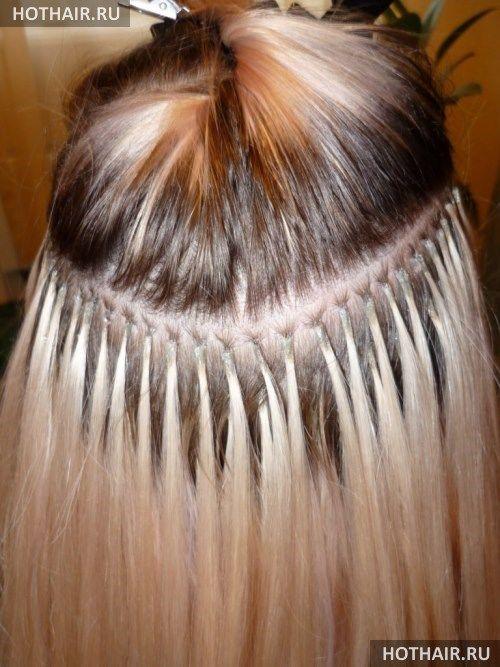 Наращивание волос с помощью металлических бусин