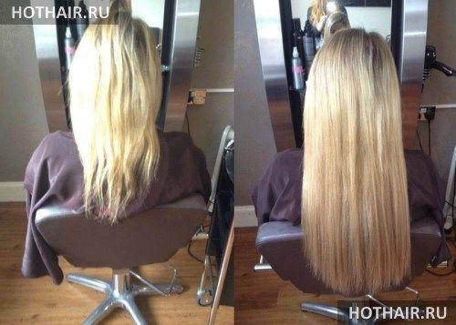 наращивание волос металлическими бусинами