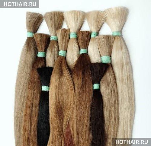 Натуральные пряди для наращивания волос