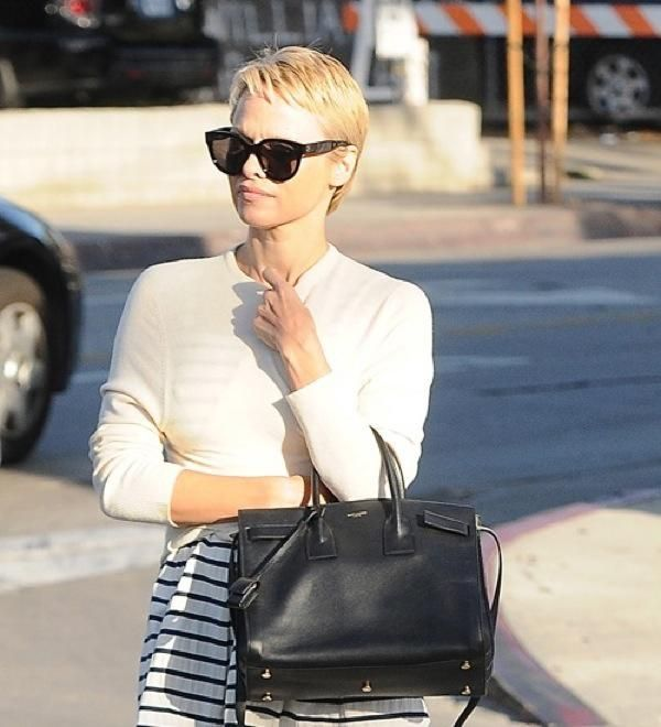 EXCLUSIVE: Pamela Anderson spotted with her new short hair cut