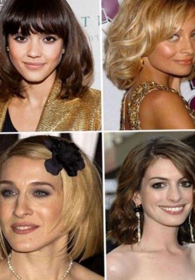 Асимметричное каре модная женская стрижка на средние волосы 2014 года. Важно. Выбирая прическу для лица квадратного типа