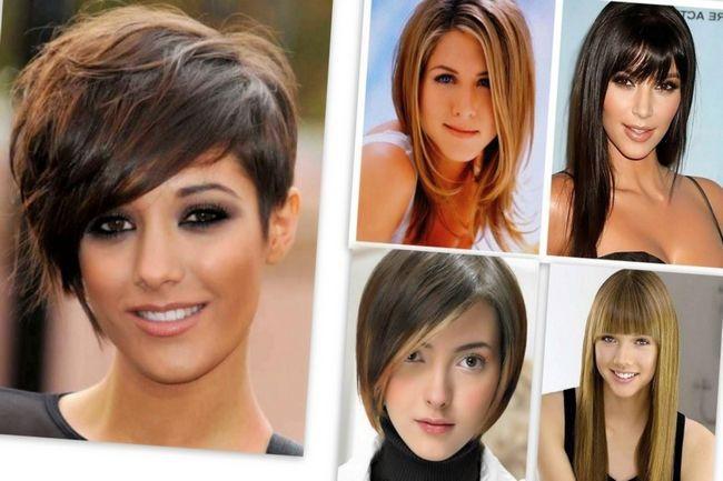 Наилучший вариант объемные прически, полностью или частично прикрывающие уши, с длиной волос до подбородка.. разные кудри придают женственности.