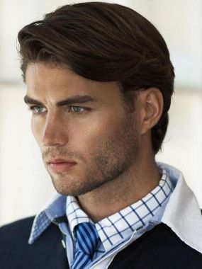 Прически на средние волосы мужские