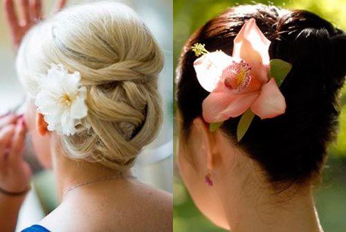 Прически с цветами в волосах: 40 красивых идей