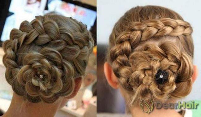 Розочка из кос