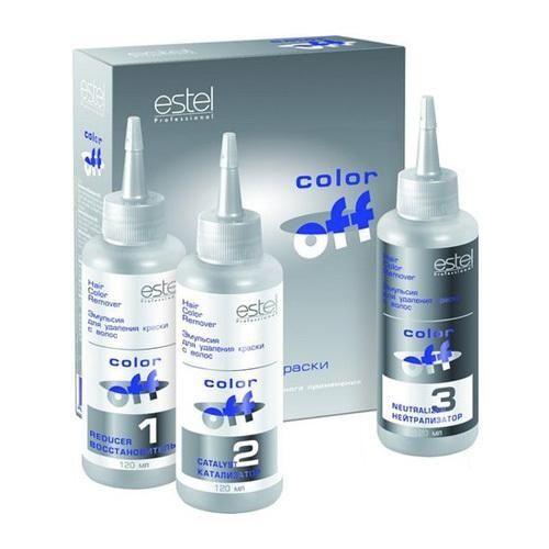 Профессиональная смывка для волос estel color off (эстель)