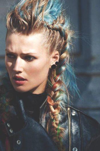 «Рваная» стрижка на длинных волосах 80-е-стиль