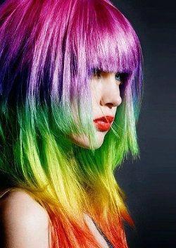 «Рваная» стрижка на длинных волосах треш