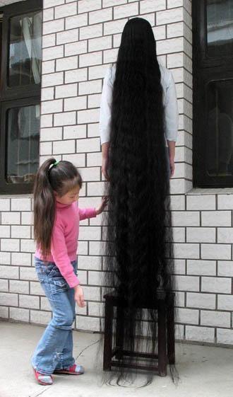 Самые длинные волосы в мире.
