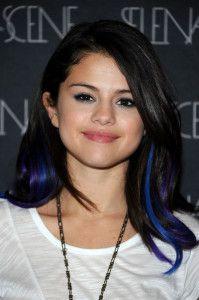 Синее окрашивание омбре на темных волосах фото + 2 видео урока на накладных прядях