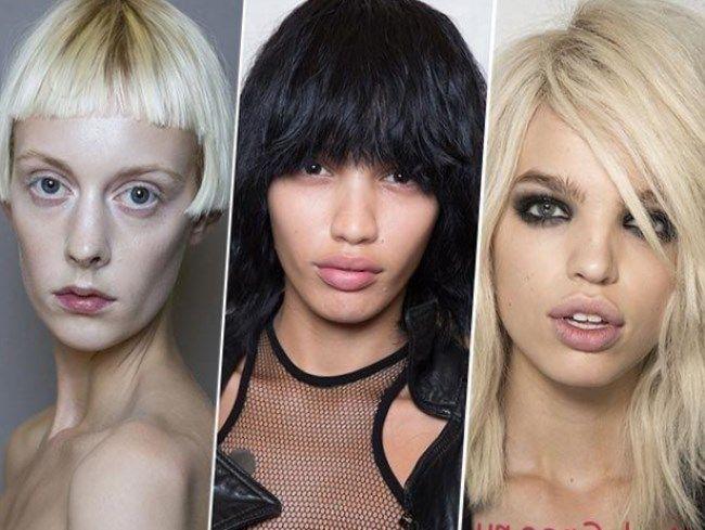 должна заступать за линию бровей модный тренд 2015 года. Укладки здесь подходят пышные, с легкими локонами, челку носим на бок или в прямом варианте,