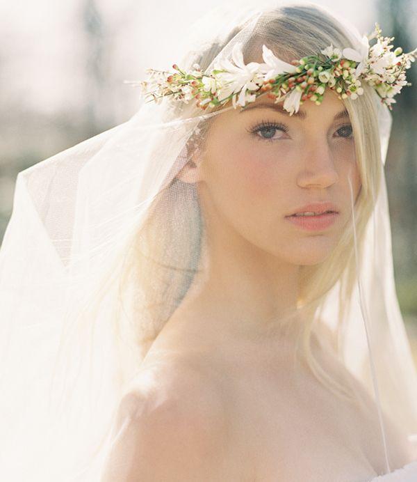 Свадебная прическа под фату