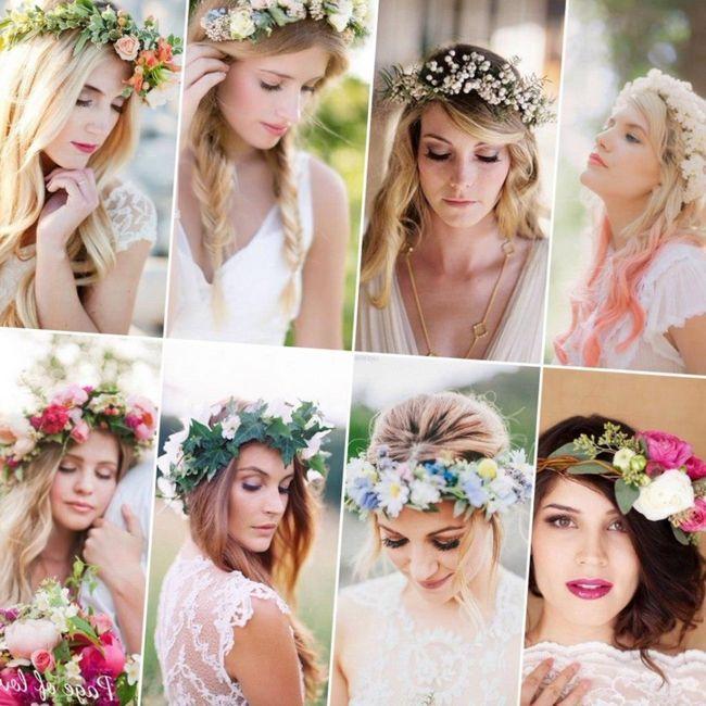 Основные тренды свадебной моды 2015 года: распущенные локоны с венком из цветов или трав, аккуратные укладки с фатой, гладкие прически,