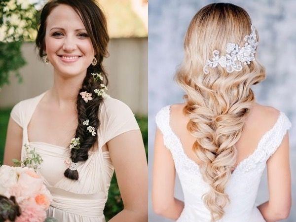 Свадебные причёски с аксессуарами. Фото