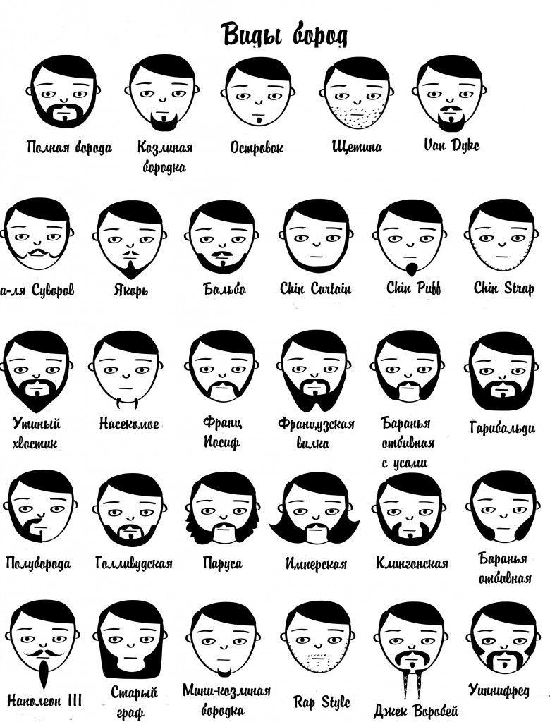 Популярные виды и стили бороды
