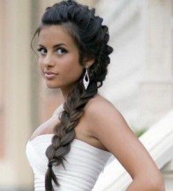 свадебные прически косы